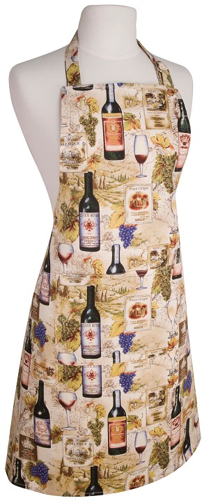 Wine Labels Basic Apron