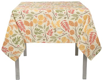 Oakwood Print Tablecloth<br> 60 x 60 inch