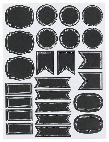 Chalkboard Labels  <br> Set of 72 Small