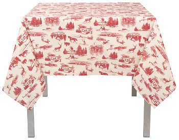 Holiday Toile Tablecloth <br> 60 x 60 inch