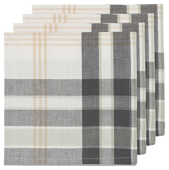 Multi Hudson Plaid Napkins <br> Set of 4
