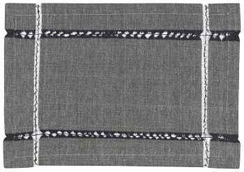 Tangier Knotted Woven Placemat Black