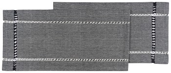 Tangier Knotted Woven Runner Black