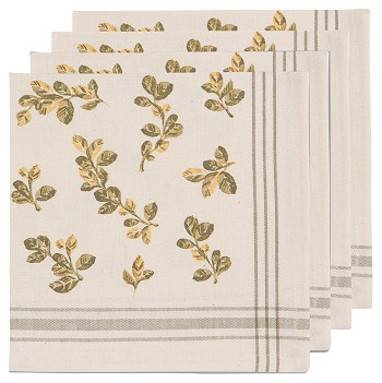 Holiday Foliage Napkins <br> Set of 4