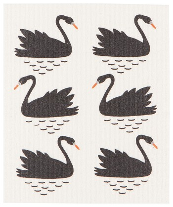 Swan Lake  Swedish Dishcloth