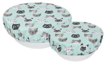 Cats Meow Bowl Covers <br> Set of 2