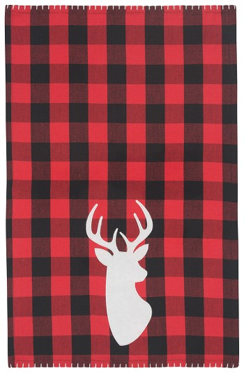 Buffalo Check Deer Dishtowel