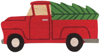 Holiday Truck Shaped Doormat