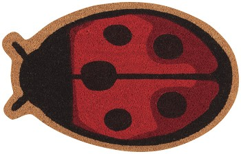Fly Away Ladybug Shaped Doormat