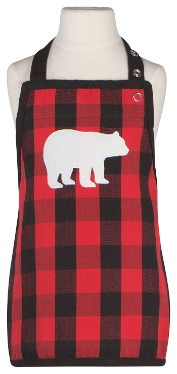 Buffalo Check Bear Kid's Apron