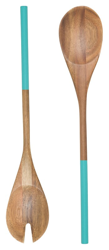 Turquoise Dipped Salad Servers