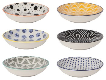 Bits & Dots Stamped Pinch Bowl Set