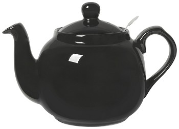 Farmhouse Filter Teapot <br> 4-Cup Black