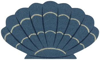 Coastal Treasures Shaped Doormat