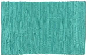 Chindi Rug Solid Turquoise <br> 2' x 3'