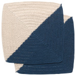 Angle Crochet Dishcloths <br> Set of 2 Blue
