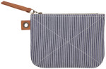 Railroad Stripe Sawyer Large Zipper Pouch