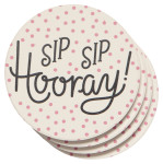 Sip Sip Hooray Soak Up Coaster Set of 4