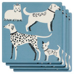 Dog Days Soak Up Coaster Set of 4
