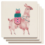Happy Llamadays Soak Up Coaster Set of 4