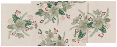 13x72 in Winterblossom Printed Table Runner