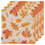 Autumn Harvest Printed Napkins Set of 4