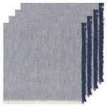 Midnight Heirloom Chambray Napkins Set of 4