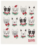 Meowy Christmas Ecologie Swedish Sponge Cloth