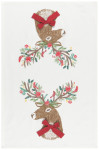 Dasher Deer Printed Dishtowel
