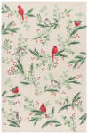 Forest Birds Printed Dishtowel