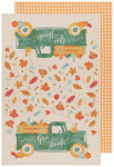 Autumn Harvest Dishtowels Set of 2