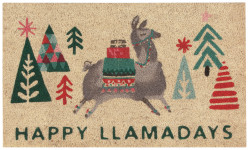 Happy Llamadays Doormat