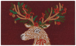 Dasher Deer Doormat