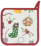 Meowy Christmas Potholder