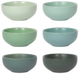 Leaf Pinch Bowl Set of 6