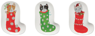 Meowy Christmas Shaped Dish Set of 3
