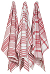 Red Jumbo Dishtowels <br> Set of 3