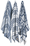 Indigo Jumbo Dishtowels <br> Set of 3