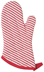 Red Narrow Stripe Red Superior Oven Mitt