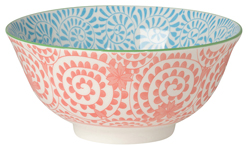 Orange Stamped Bowl