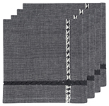 Tangier Black Napkins <br> Set of 4