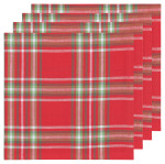 Noel Plaid Napkins <br> Set of 4
