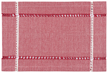Tangier Knotted Woven Placemat Red