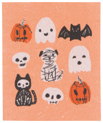 Happy Howloween Swedish Dishcloth