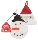 Tawashi Scrubbers - Snowman/St Nickl<br> Set of 2