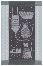 Purr Party Jacquard Dishtowel