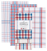 Blue Wilson Dishtowels <br> Set of 3