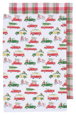 Holiday Cars Dishtowels <br> Set of 2