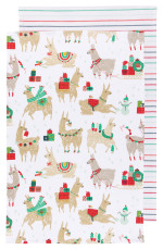 Fa La La La Llama Dishtowels <br> Set of 2