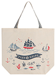 Fish & Ships Tote Bag